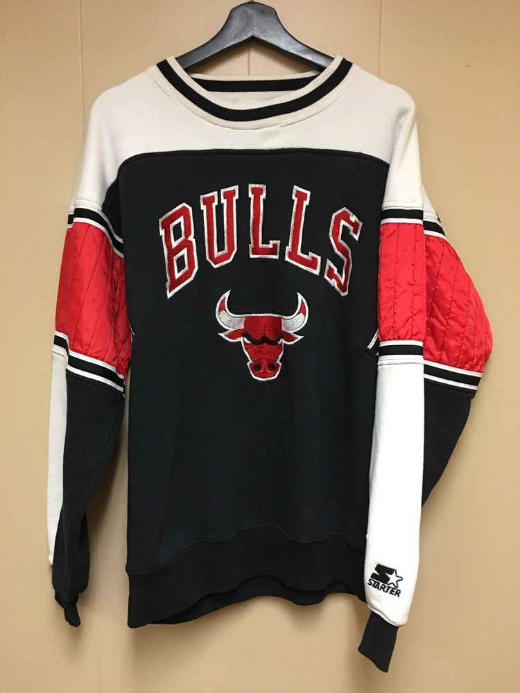 Vintage Starter NBA Chicago Bulls Sweatshirt in 2019  8ae9ce8ffcc1