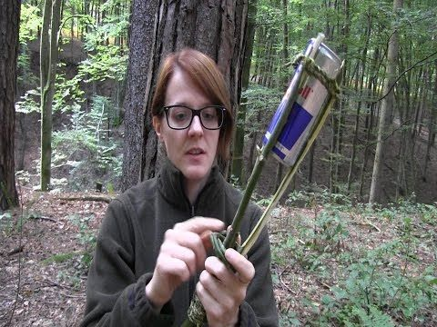 how to make a torch with a red bull can survival lilly wilderness