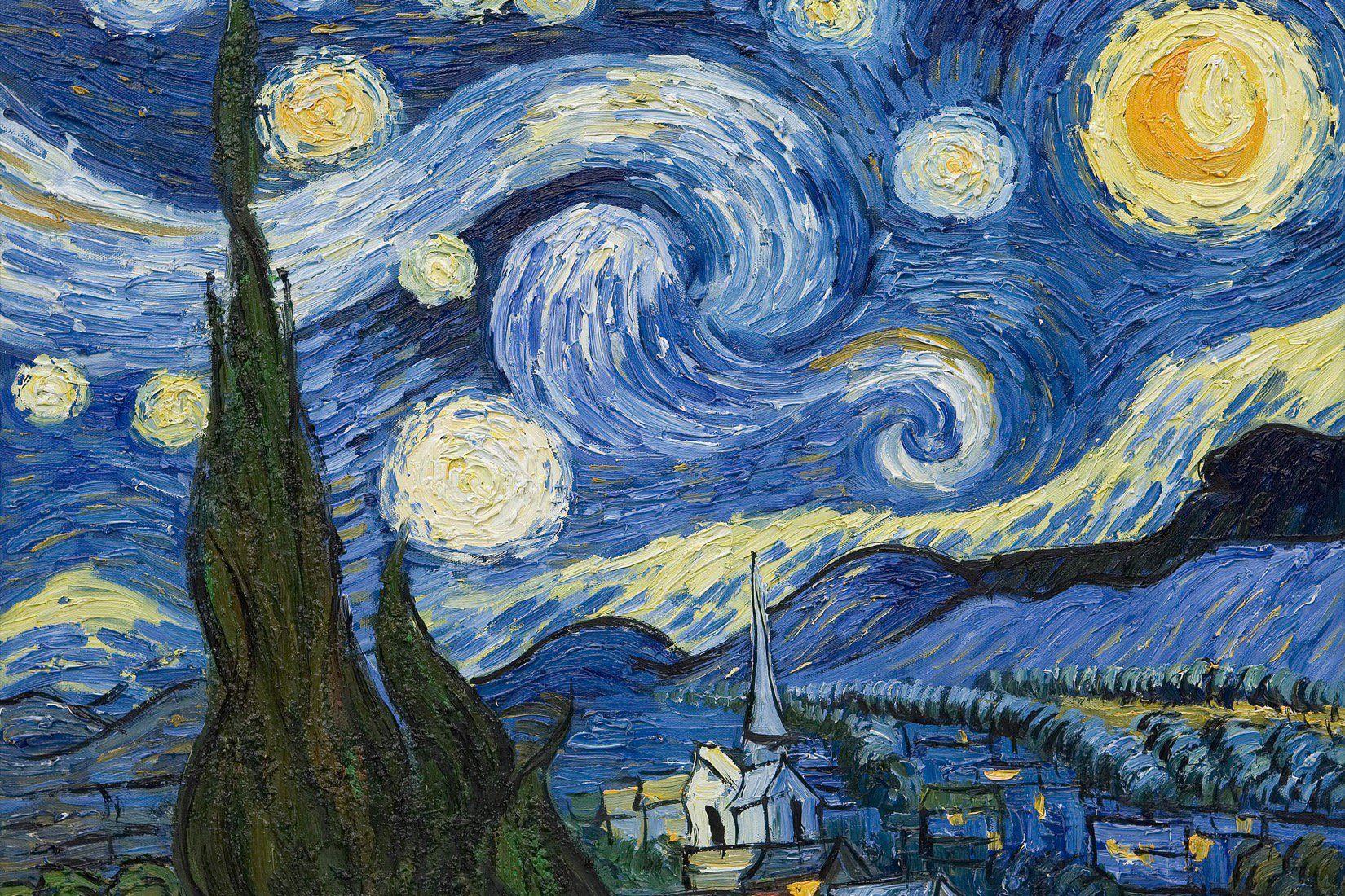 Van Gogh Starry Night Wallpaper Mural Murals Wallpaper In 2021 Starry Night Van Gogh Starry Night Painting Van Gogh Art