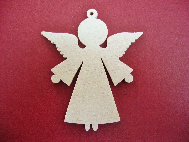 Ange De Noel En Bois 9cm Accessoires De Maison Par Sciure