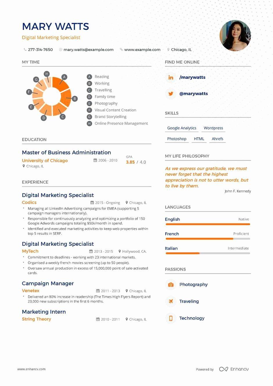 Digital Marketing Manager Resume Beautiful Digital