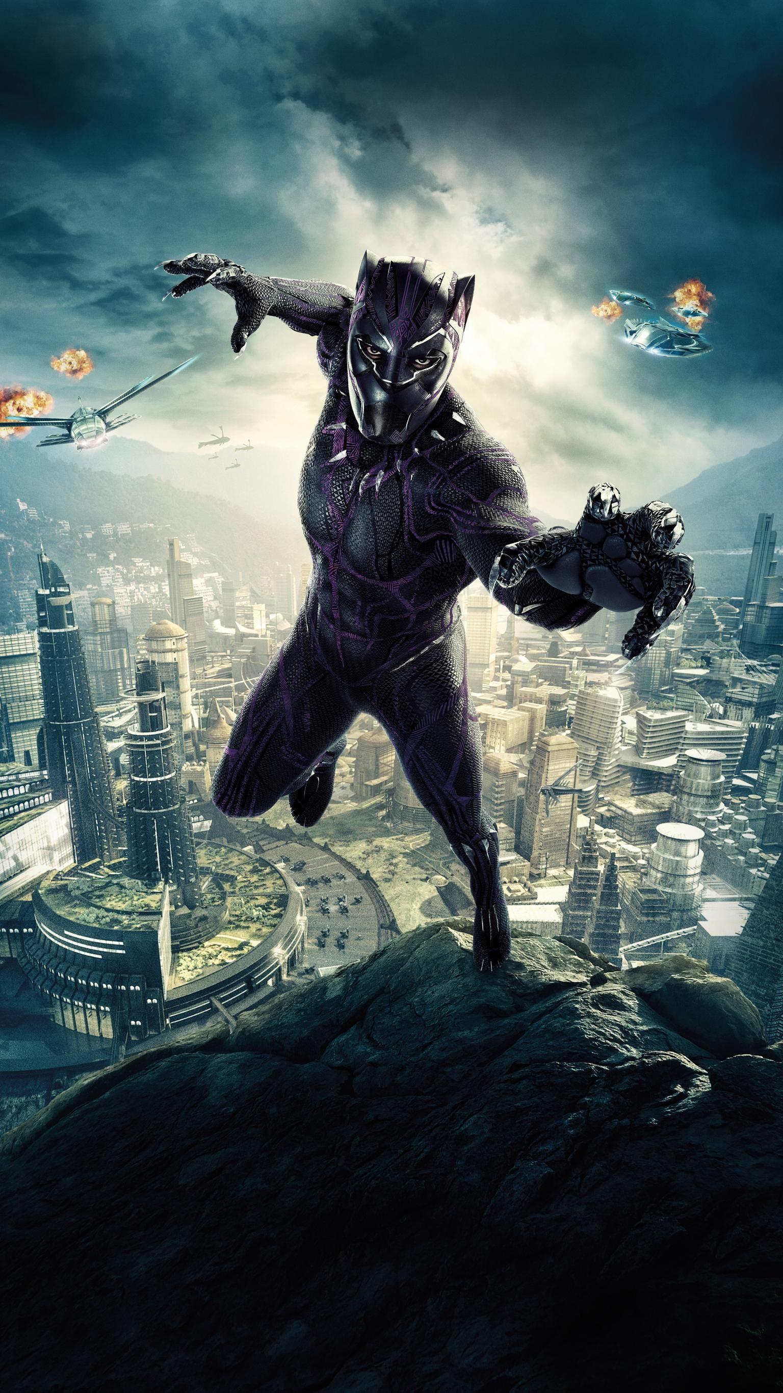 Black Panther 2018 Phone Wallpaper ブラックパンサー マーベル