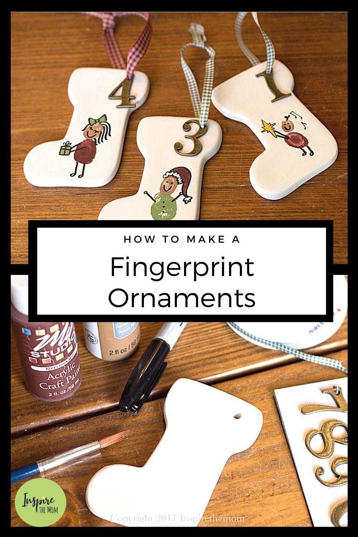 Diy Fingerprint Ornaments For Kids Inspire The Mom Diy Christmas Gifts Fingerprints Ornaments Grandparents Christmas Gifts