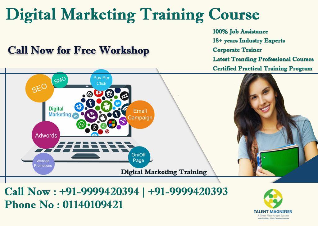 Digital marketing job oriented practical training