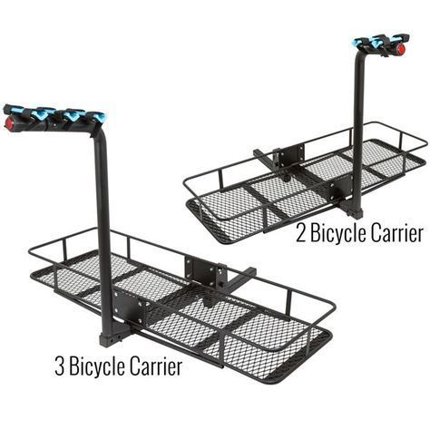 Apex Steel Basket Cargo Carriers With Bike Rack Hitch