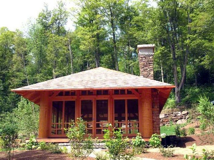 Japanese style log home.
