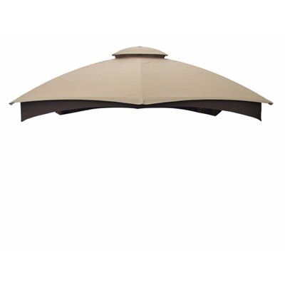 Allen Roth Beige 12 Ft X 10 Ft Replacement Canopy Canopy Outdoor Gazebo Replacement Canopy Gazebo