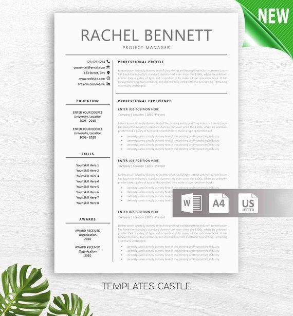 Resume Template Modern Professional Cv Teacher Resumes