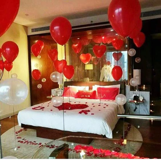 How To Decorate Bedroom For First Night In 2020 Wedding Night Room Decorations Romantic Room Decoration Romantic Room