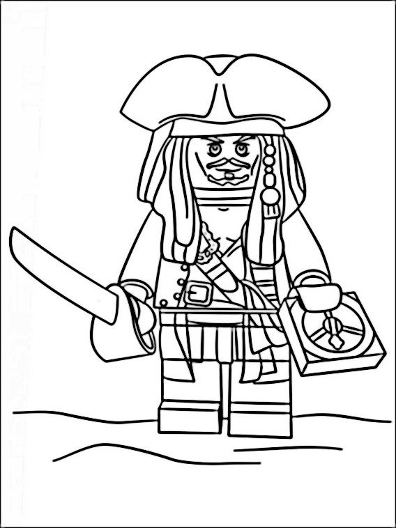 Lego Pirates Coloring Pages 2 | Lego | Pinterest | Lego, Coloring ...