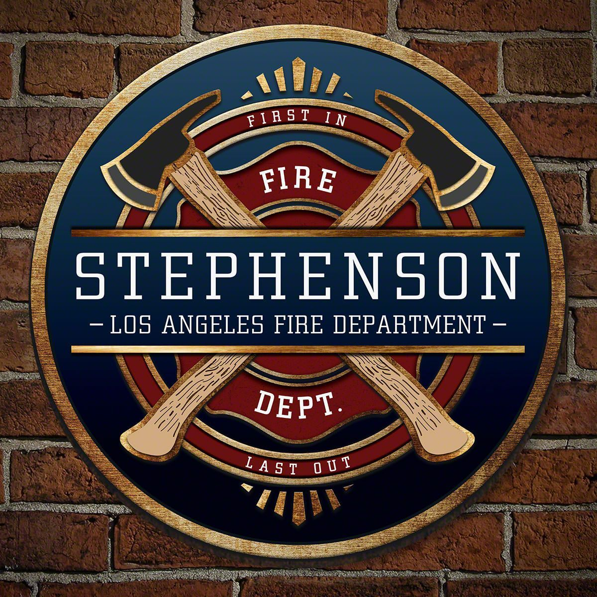 Firefighter brotherhood personalized sign firefighter