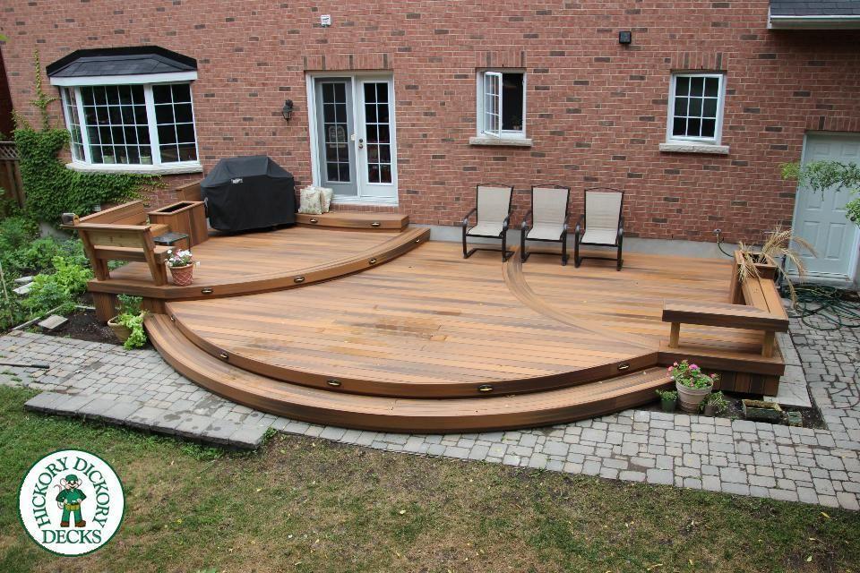 Hickory Dickory Decks Curved Deck Patio Deck Designs Patio