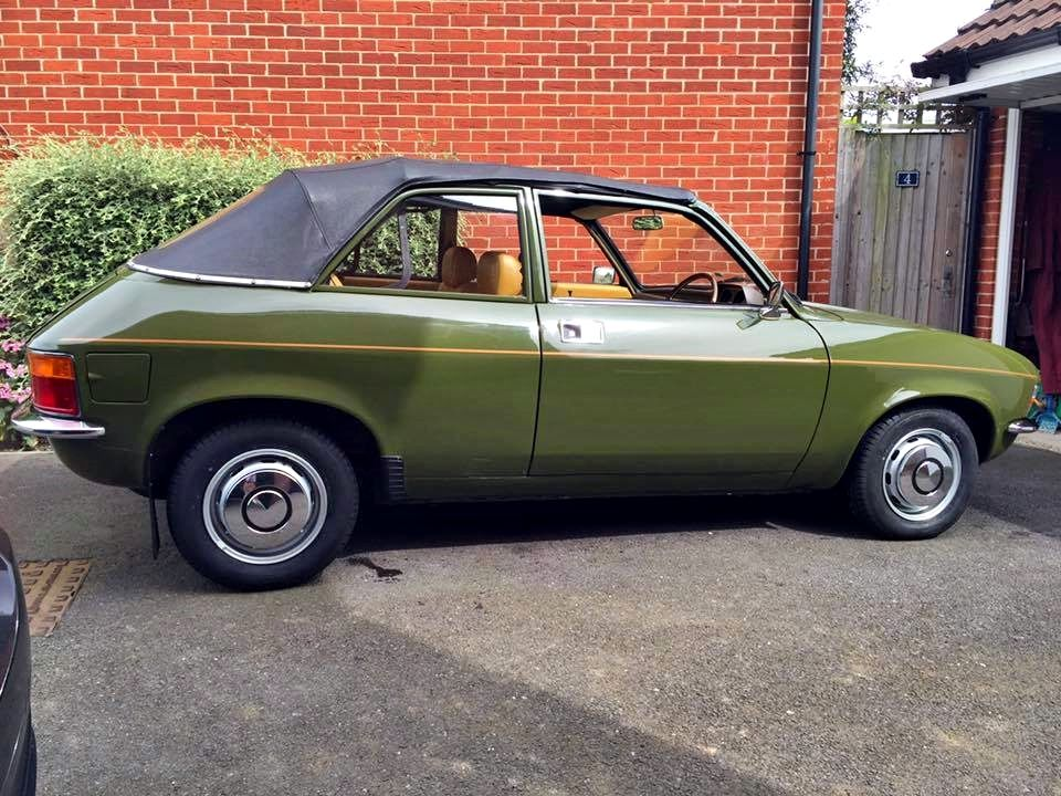 1980 Austin Allegro Convertible With The Roof Down It Doubles Up As A Skip Classic Cars Mini Cooper Convertible