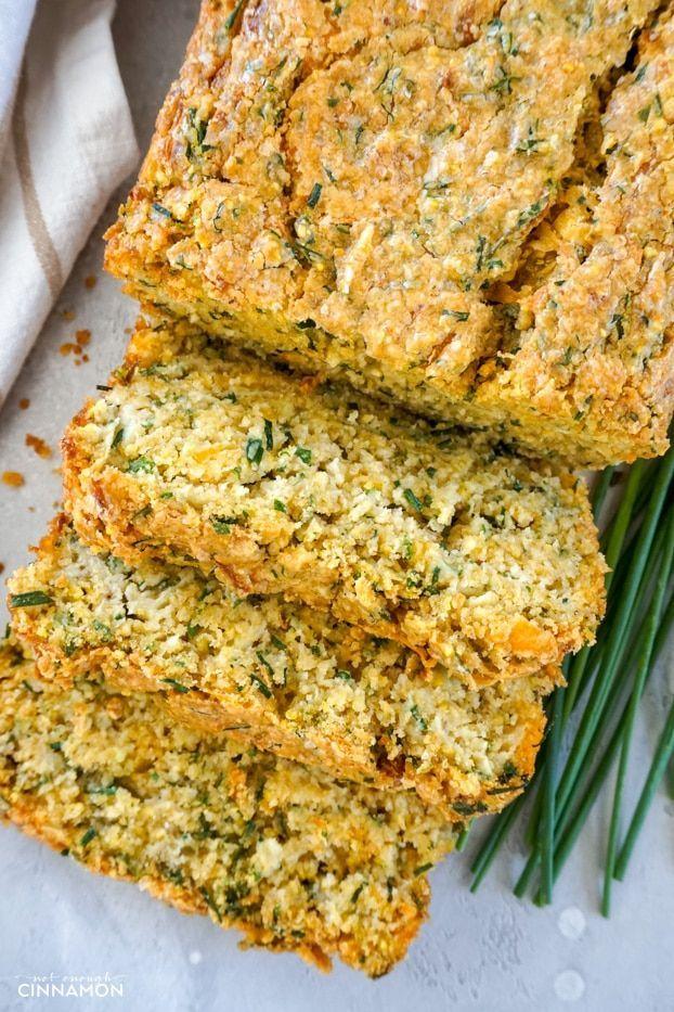 GlutenFree Cheddar Chive Zucchini Bread Recipe