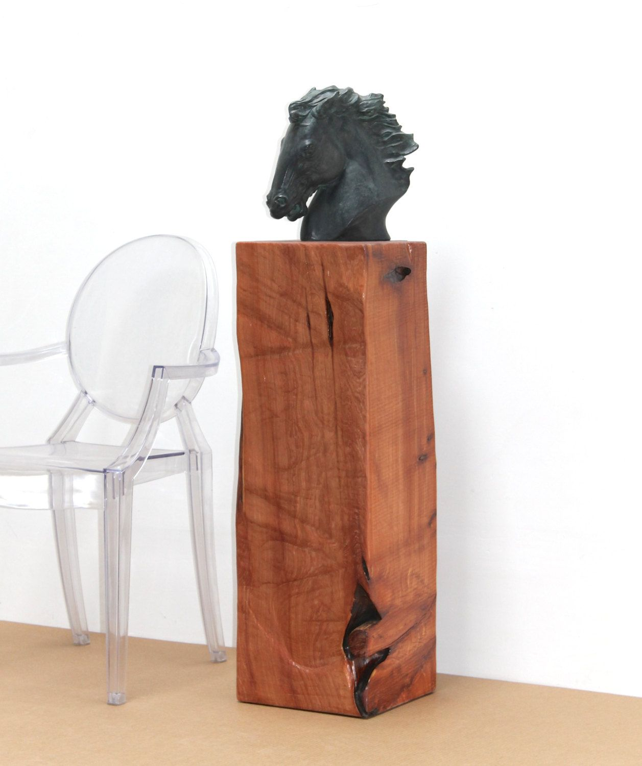 Reclaimed Timber Pedestal Art Sculpture Stand Display