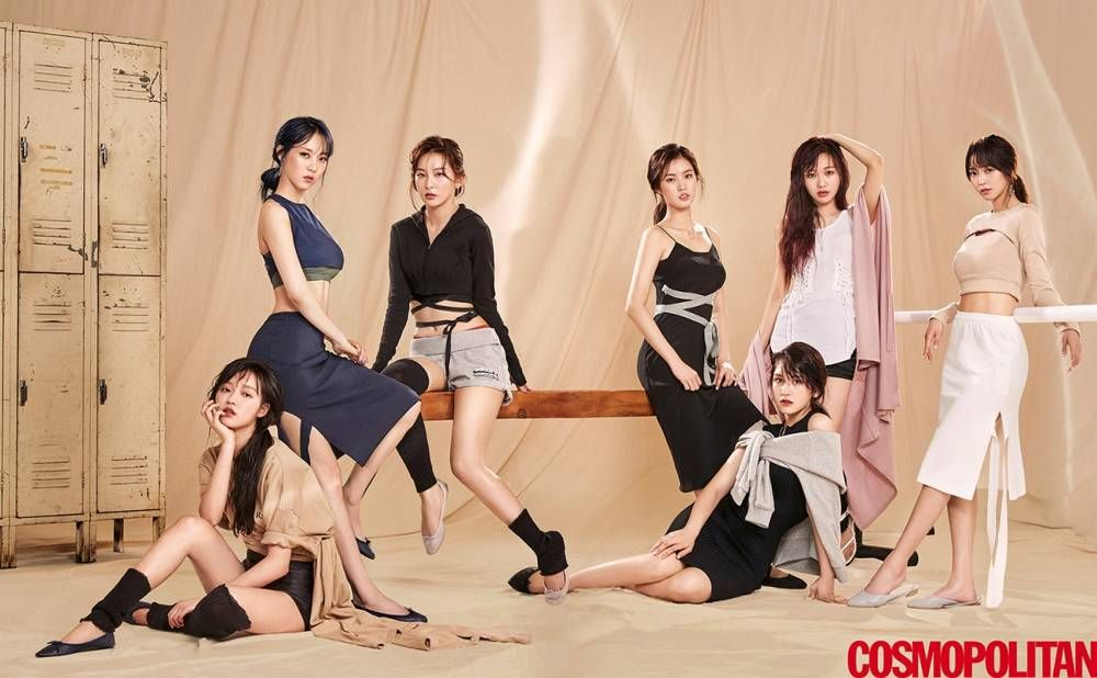 Cosmopolitan Magazine Features The Idol Drama Operation Team Doing Gymnastics Koogle Tv Oh My Girl Yooa Moonbyul Girl S Day Yura