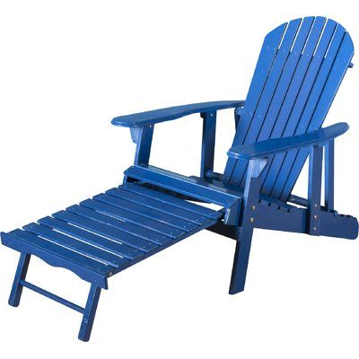 Sol 72 Outdoor Belford Solid Wood Adirondack Chair With Ottoman Color Blue In 2020 Wood Adirondack Chairs Home Depot Adirondack Chairs Plastic Adirondack Chairs