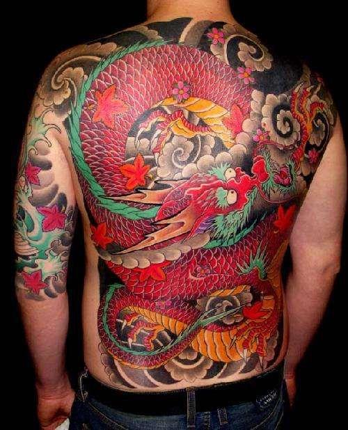 Japanese Dragon Backpiece Tattoo Japanese Tattoo Japanese Dragon Tattoos Asian Dragon Tattoo