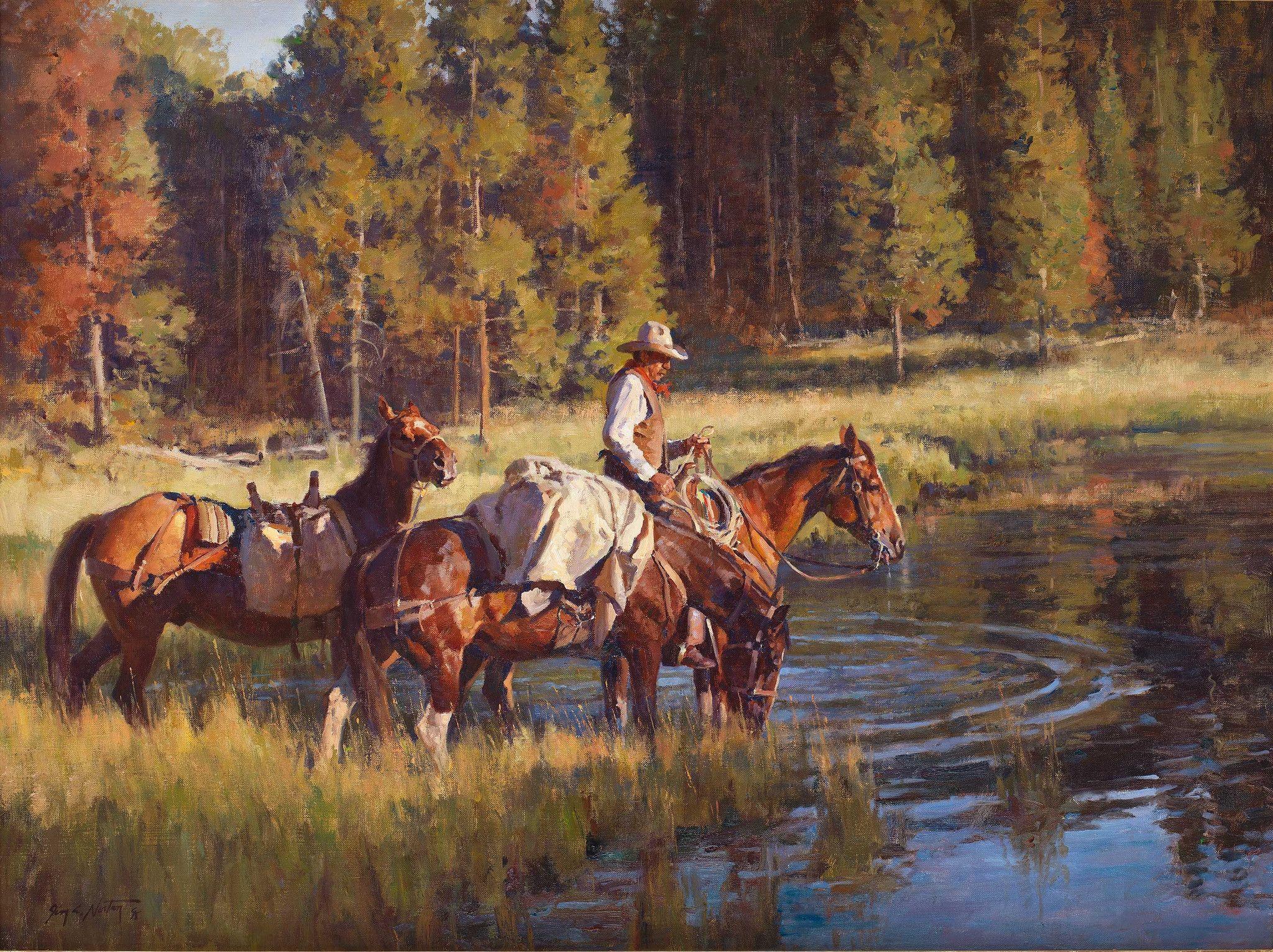 Packing Line Camp Jim . Norton Fine Art Great