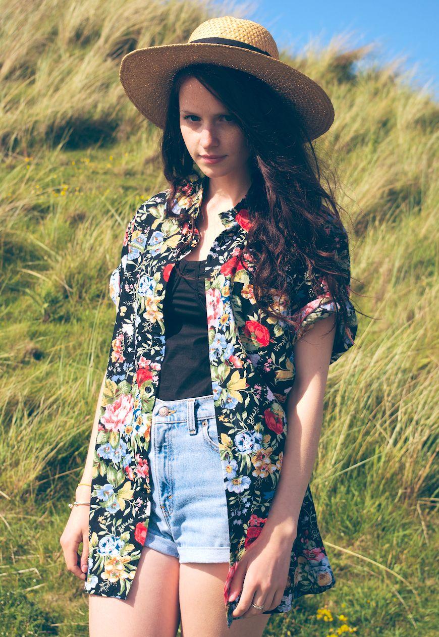 hawaiian shirt outfit girl cheap online