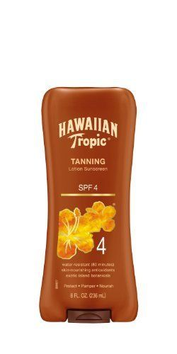 Hawaiian Tropic Sun Tanning Sunscreen Lotion Spf 4 8