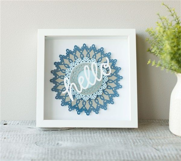 Wall Decor With Cricut : Framed hello home decor art make it now with the cricut