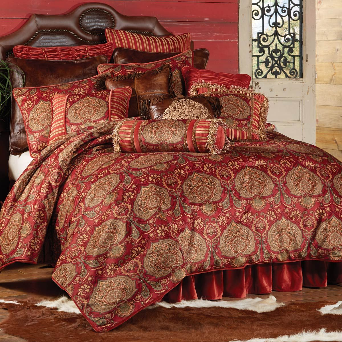 Western Bedding: King Size Lorenza Bed Set|Lone Star Western Decor