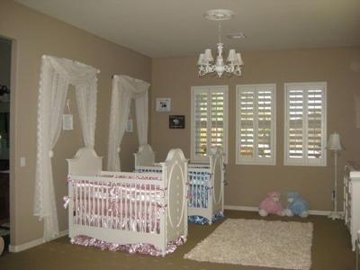 Our Boy Twins Nursery My Mom Helped Me Design Twin We Went With Shabby Chic Inspiration From Jlo S Pics