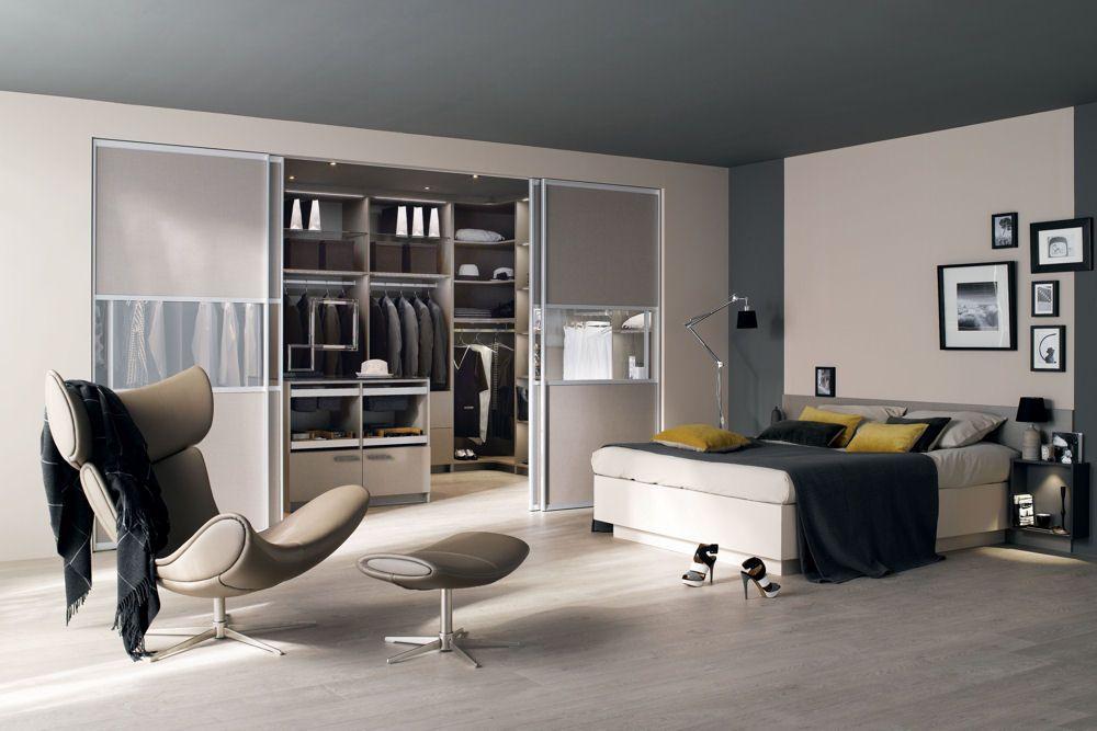 Dressing, chambre, gris, beige, bedroom, grey | Maison et Déco ...
