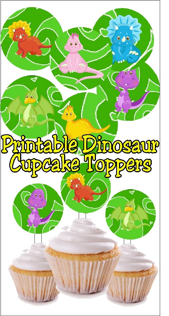 these cute little dinosaurs are perfect as cupcake toppers they are