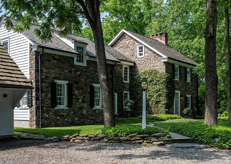 Bucks County Stone Farmhouse Architecture