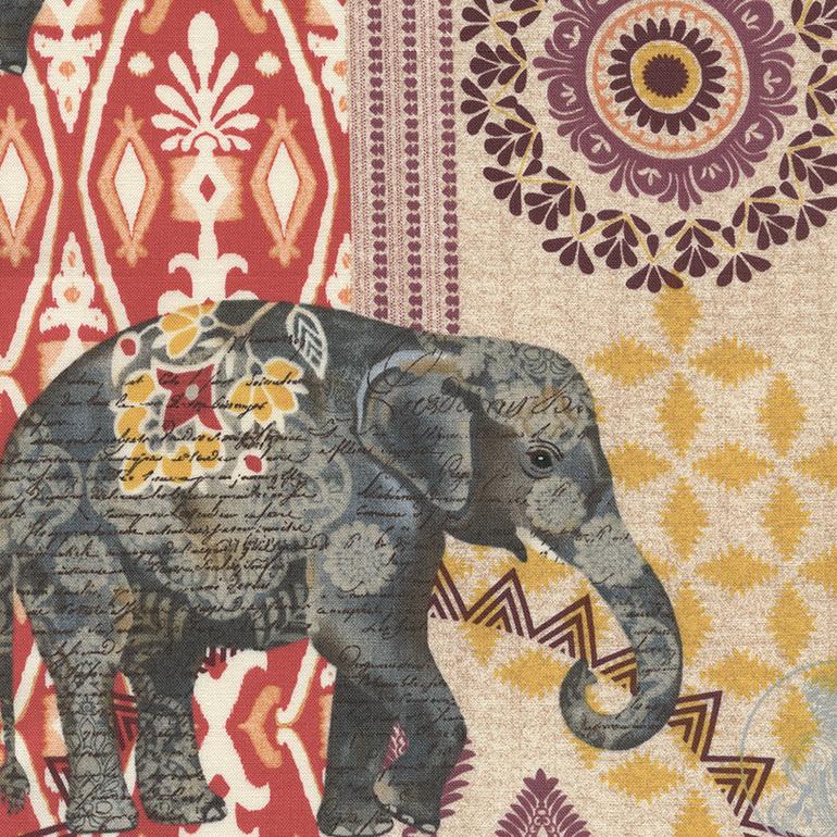 Batik Elephant Background Stock Vector 232809175 - Shutterstock