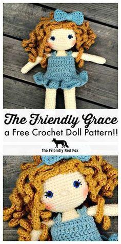 Free Crochet Doll Pattern- The Friendly Grace