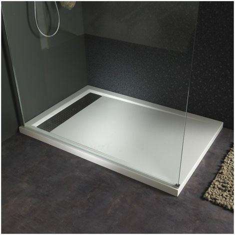 Receveur Extra Plat A Poser 80x120 Design Blanc Douche Receveur De Douche Bac De Douche