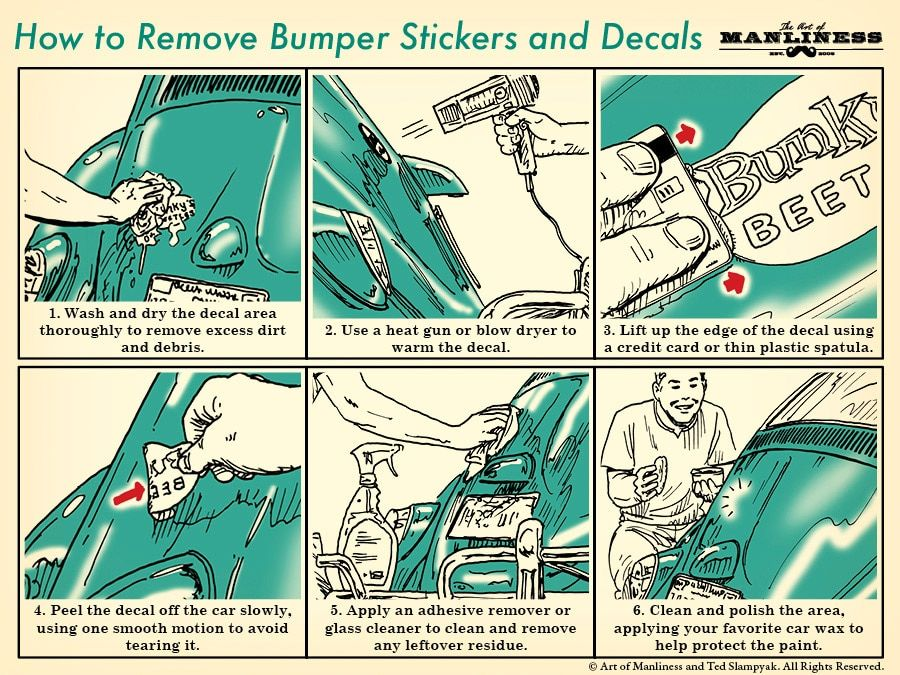 How To Remove Bumper Stickers And Car Decals Bumper Stickers Cleaning Hacks Cleaning Painted Walls