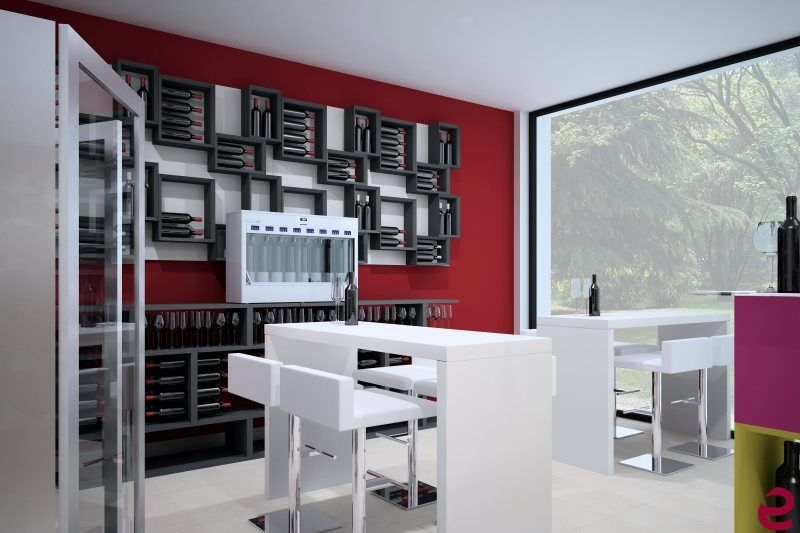 Arredamento Esigo per #enoteca a Milano - Esigo wine furniture_Wine shop in Milano #portabottiglie #enoteca #winerack #wineshop #furniture
