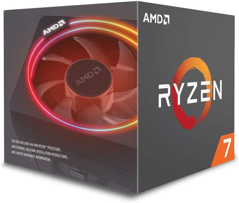 Amd Ryzen 7 2700x Processor With Wraith Prism Led Cooler Yd270xbgafbox Amd Processor Cooler Master