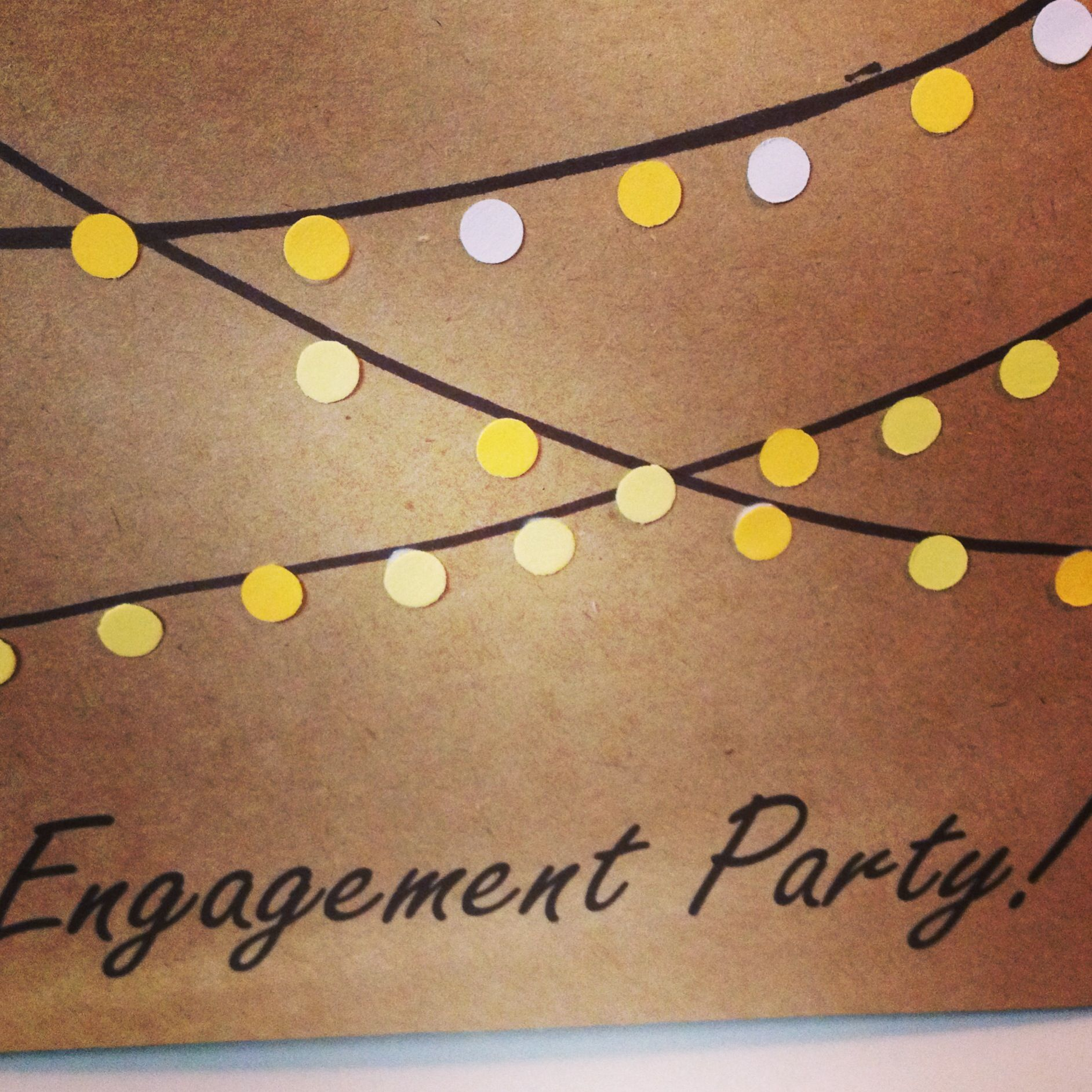 Handmade engagement party invites- outdoor themed | Engagement ...