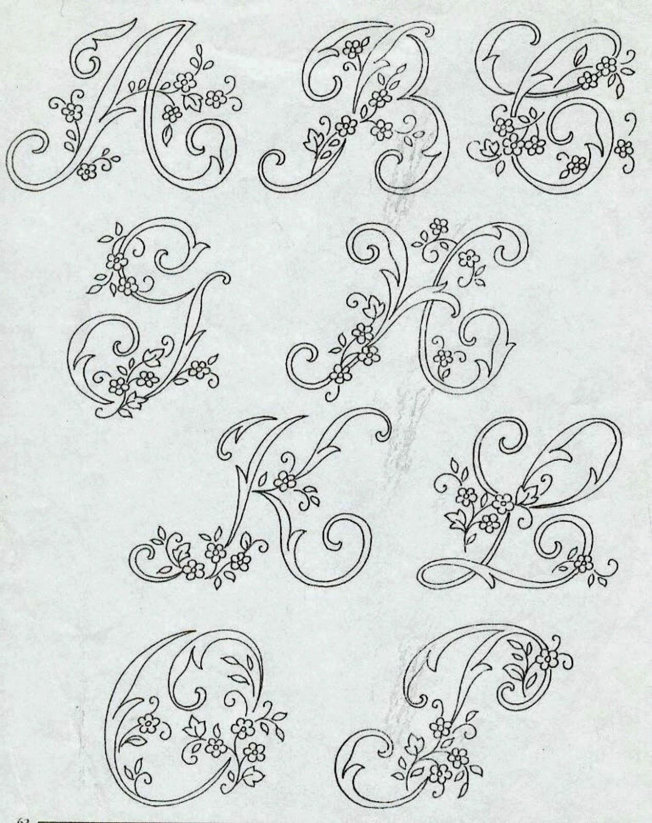 Alfabeto Da Ricamare Con Ricamo Classico μονογράμματα Embroidery
