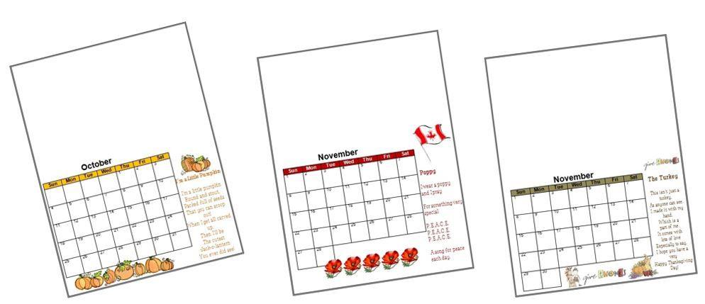 2017 Handprint Calendar Template Printable