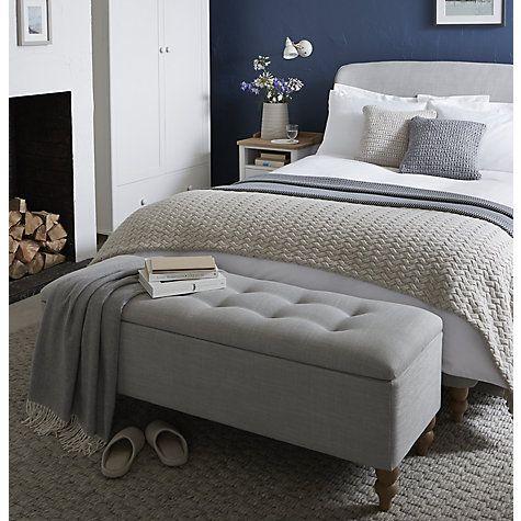 buy john lewis croft collection skye ottoman blanket box grey online at