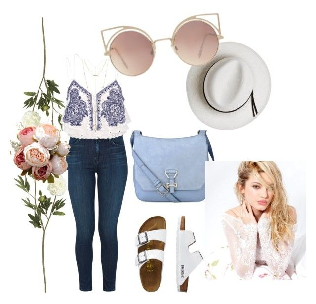 """""""Untitled #63"""" by la-titi-ovando on Polyvore featuring J Brand, Crate and Barrel, River Island, TravelSmith, Nine West, Calypso Private Label, House of Harlow 1960, Silvana and MANGO"""