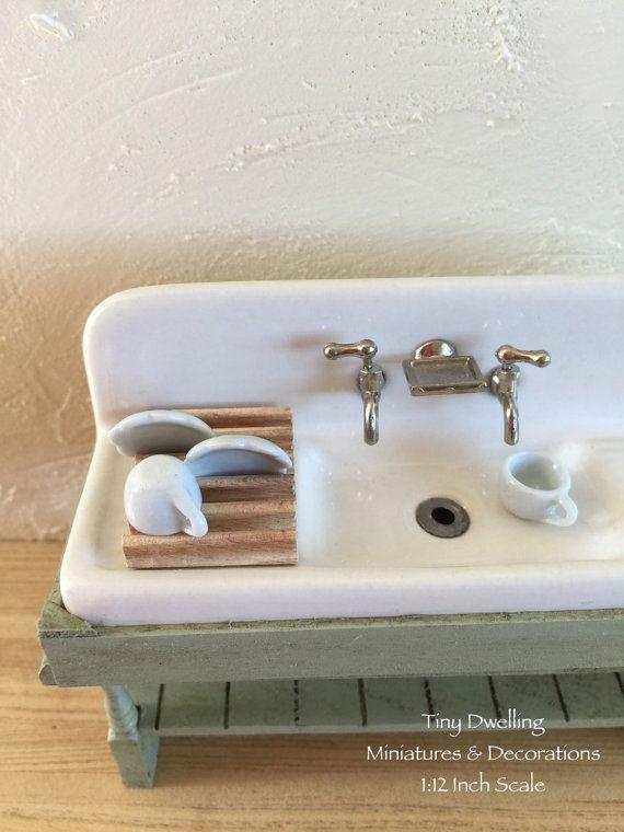 Dollhouse Kitchen Sink Miniature sink dish sink dollhouse kitchen sink dollhouse miniature sink dish sink dollhouse kitchen sink dollhouse workwithnaturefo