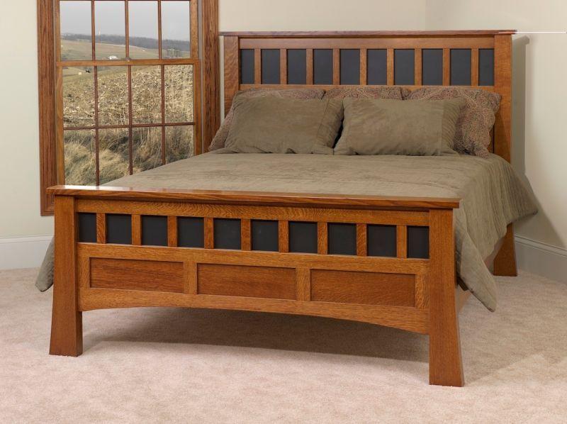Mission Canyon Oak Antique Bed Amish Furniture Bedroom
