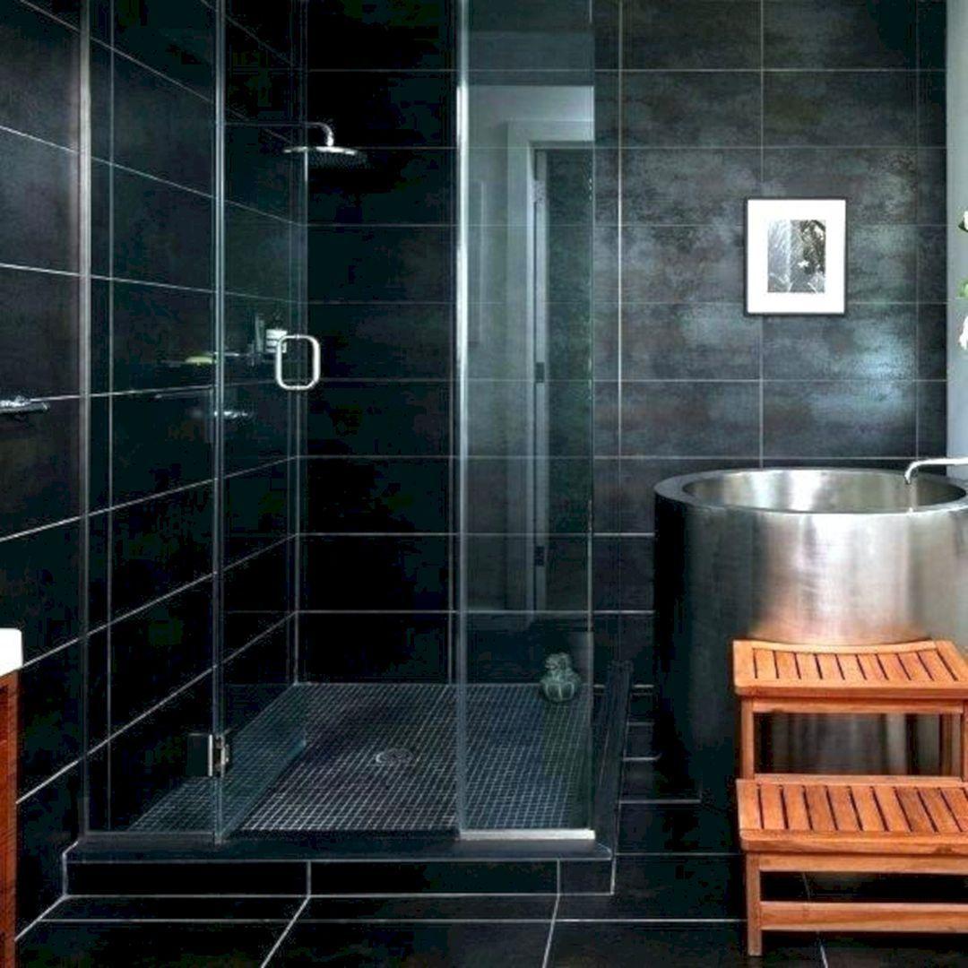Mosaic Black Tile Ideas Shower Floor Shower Floor Tile Black Shower