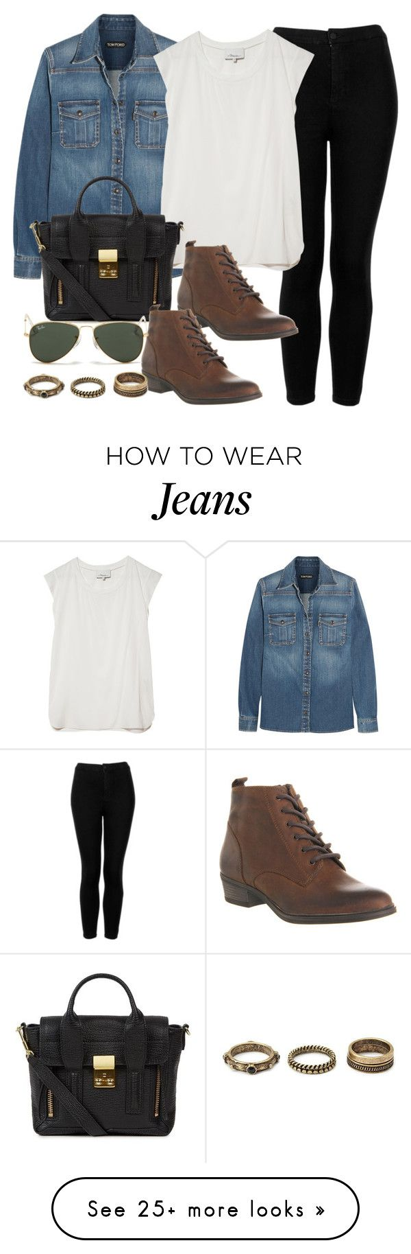 """""""Style #9434"""" by vany-alvarado on Polyvore featuring Tom Ford, Topshop, 3.1 Phillip Lim, Office, Ray-Ban and Forever 21"""