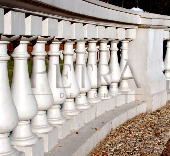 stone balustrades, exterior architectural, cast stone, precast