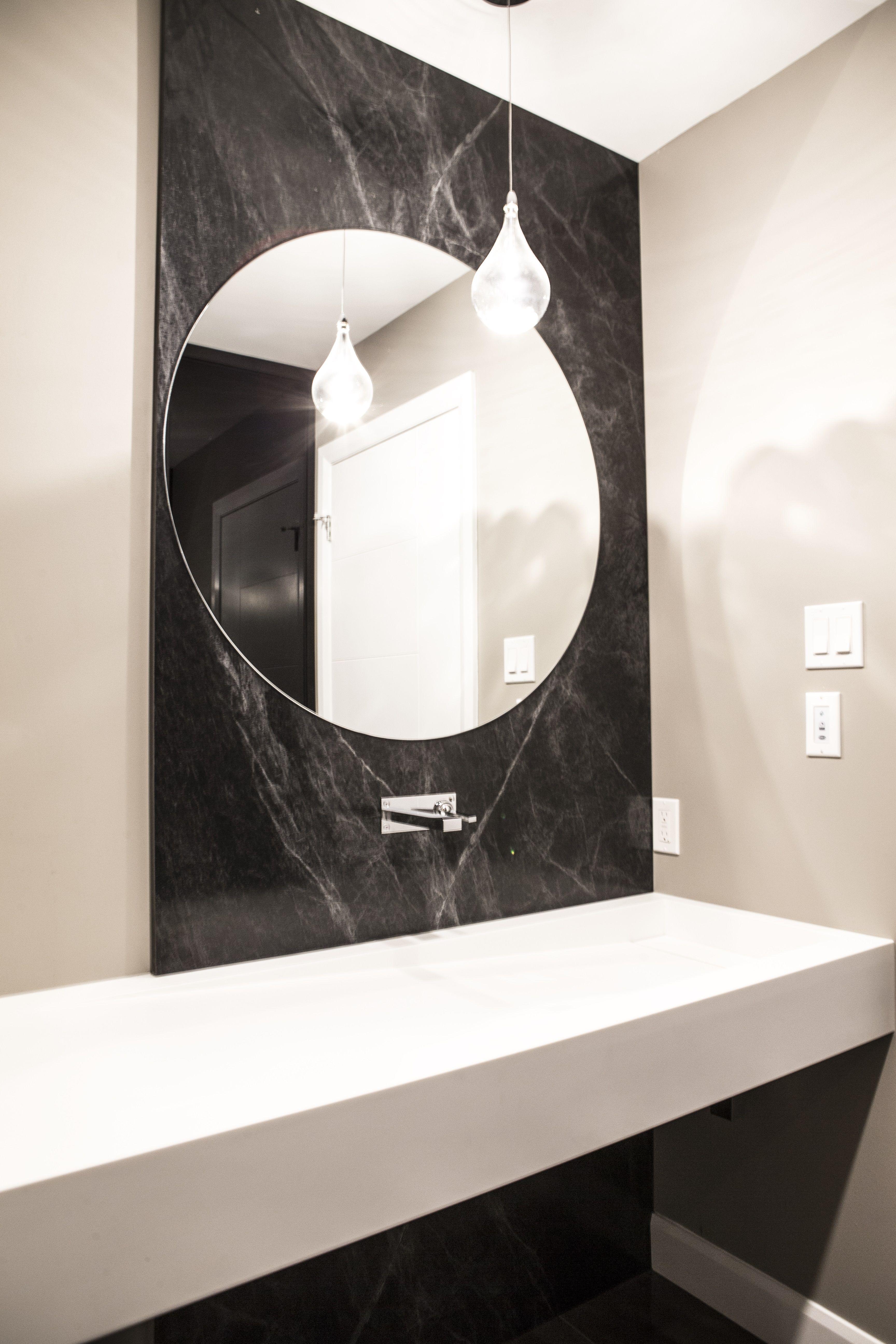 Meuble Corian Sur Mesure salle d'eau - lavabo en corian sur mesure, dosseret de