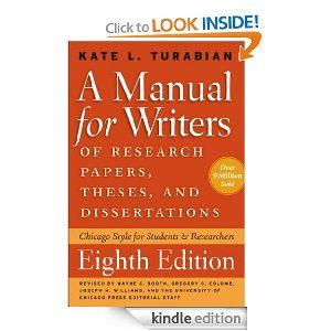 A Manual for Writers of Research Papers, Theses, and ...