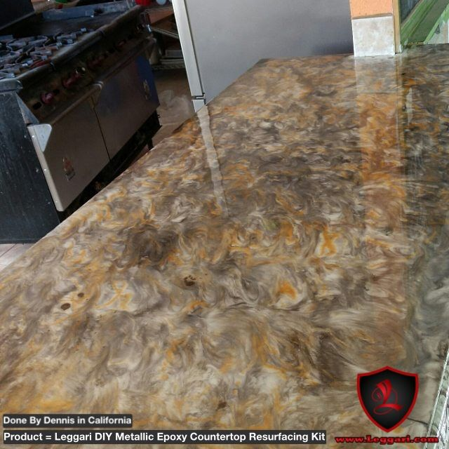 Check Out Our Diy Metallic Epoxy Countertop Resurfacing Kits